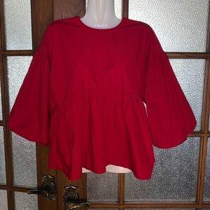 Beautiful Red Zara Blouse - Sz XS